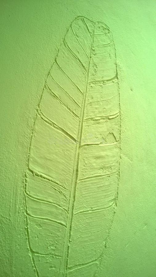 香蕉叶子绿色墙壁纹理 库存照片