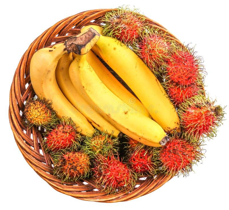 香蕉和红毛丹II 库存图片