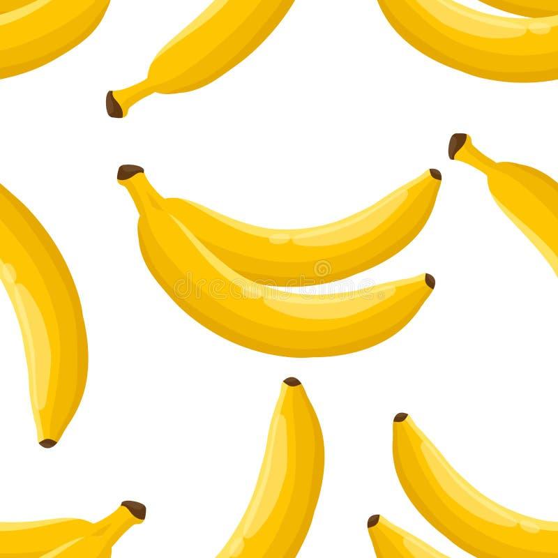 香蕉无缝的样式 皇族释放例证