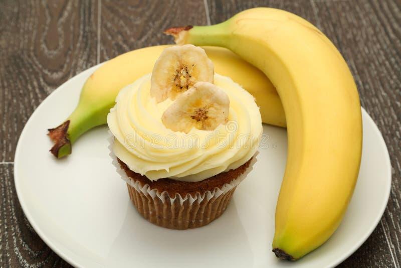 香蕉杯形蛋糕 免版税库存照片