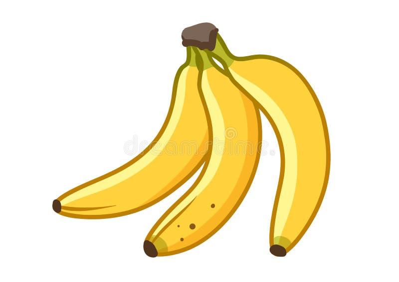香蕉果子动画片例证 束成熟香蕉, 库存例证