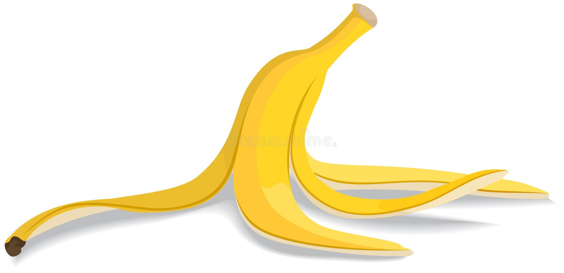 香蕉果皮 库存例证
