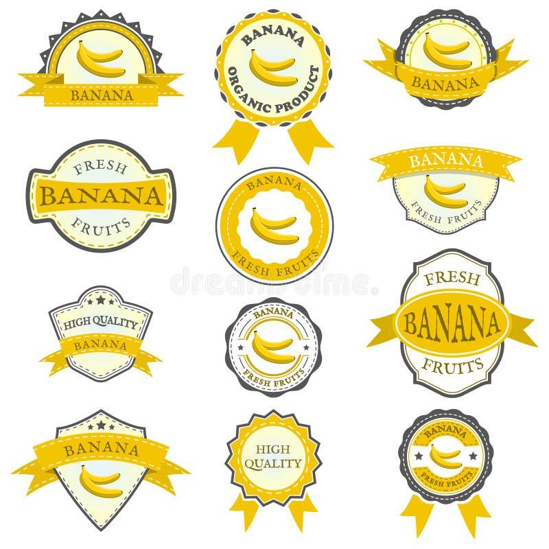香蕉标签的汇集 向量例证