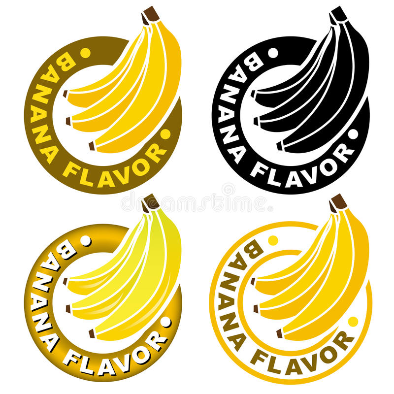 香蕉类似密封/标记 库存例证