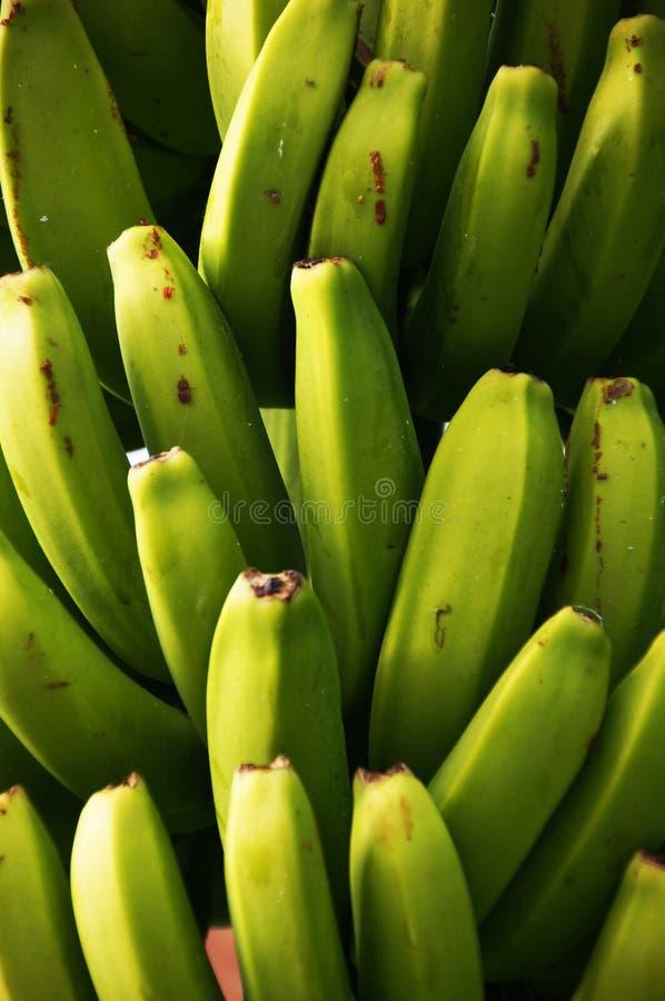 香蕉结束黄色的绿色图象 库存照片
