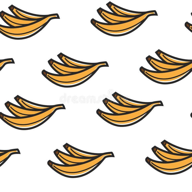 香蕉结果实无缝的样式热带有机产品 皇族释放例证