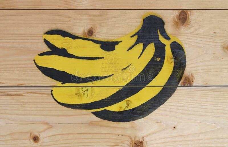 香蕉街道画 库存照片