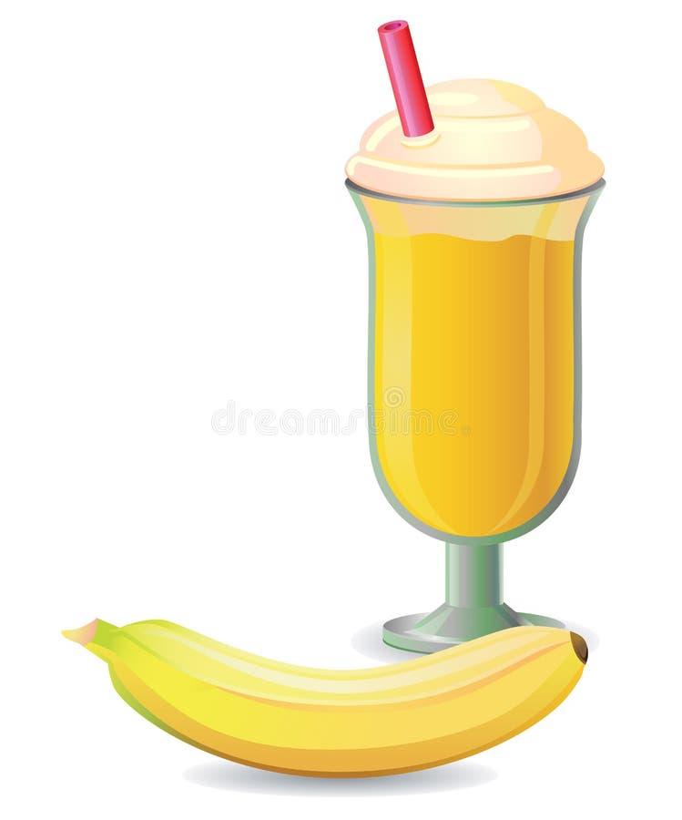 香蕉被混和的饮料 库存照片