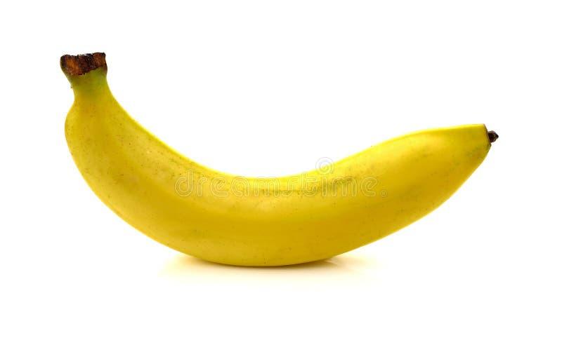 香蕉被隔绝在白色背景 免版税图库摄影