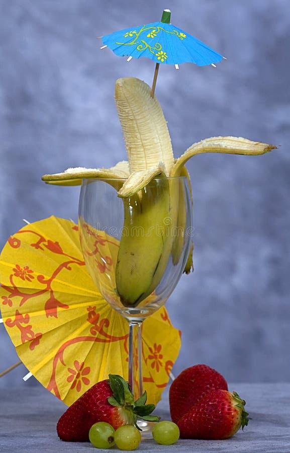 香蕉鸡尾酒 免版税库存图片