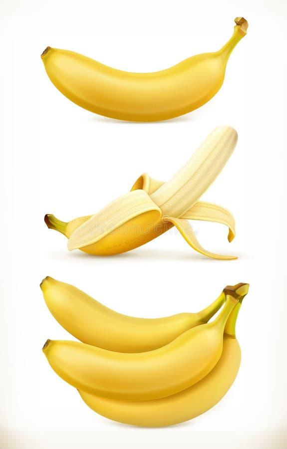 香蕉 甜果子 3d被设置的传染媒介象 皇族释放例证