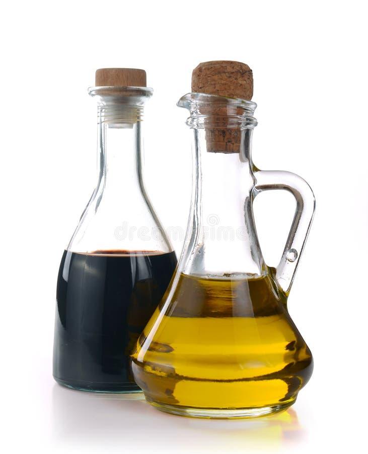 香醋和橄榄油 库存照片
