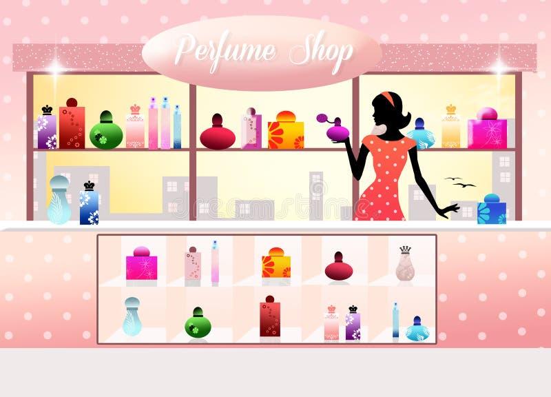 香水商店 向量例证