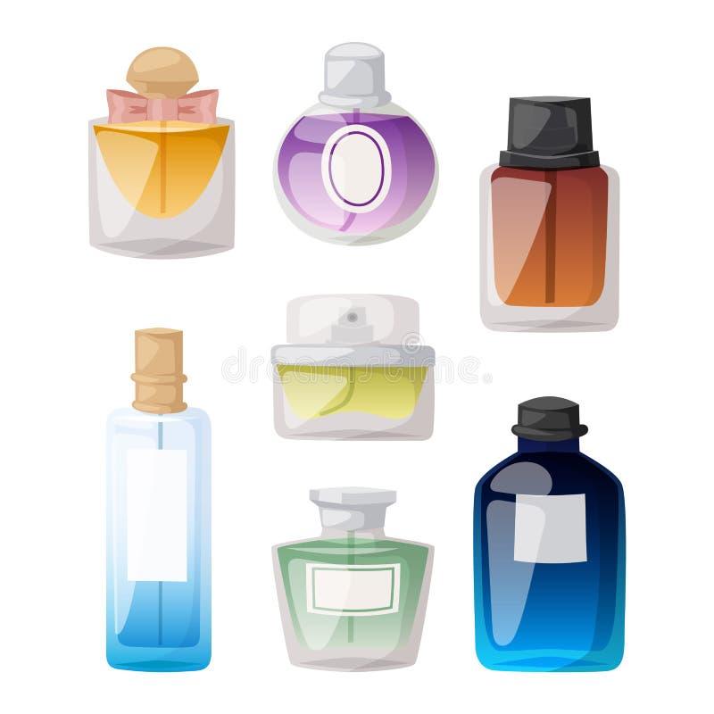 香水瓶传染媒介集合 皇族释放例证