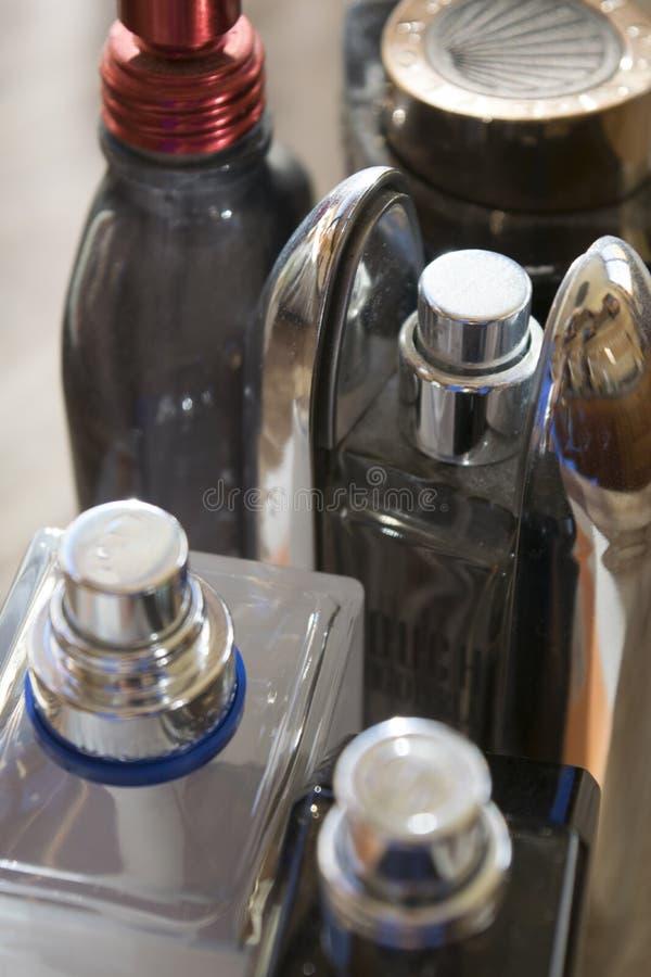 香水瓶细节  免版税库存照片