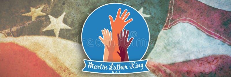 马丁・路德・金天的综合图象用手 皇族释放例证