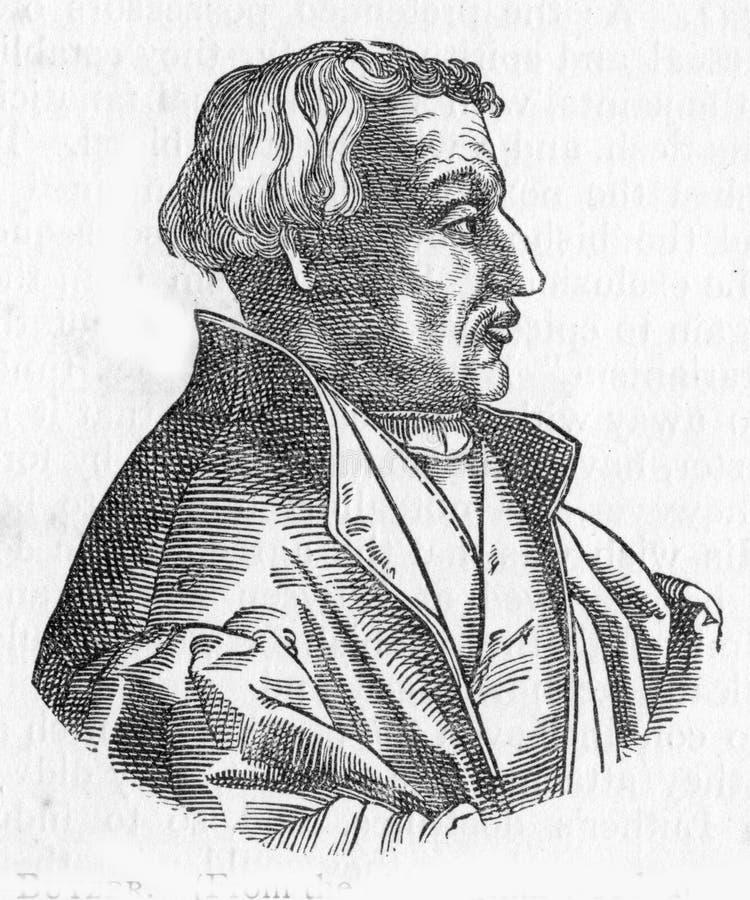 马丁Bucer,改革者 向量例证