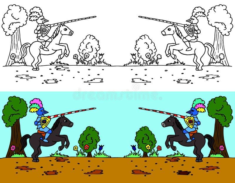 马上枪术比赛骑马 皇族释放例证