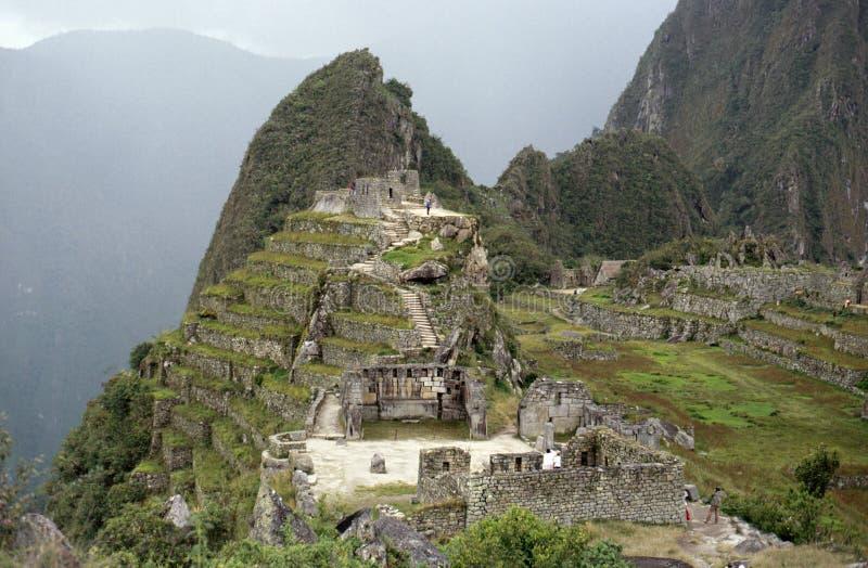 马丘比丘概要在秘鲁 免版税库存照片