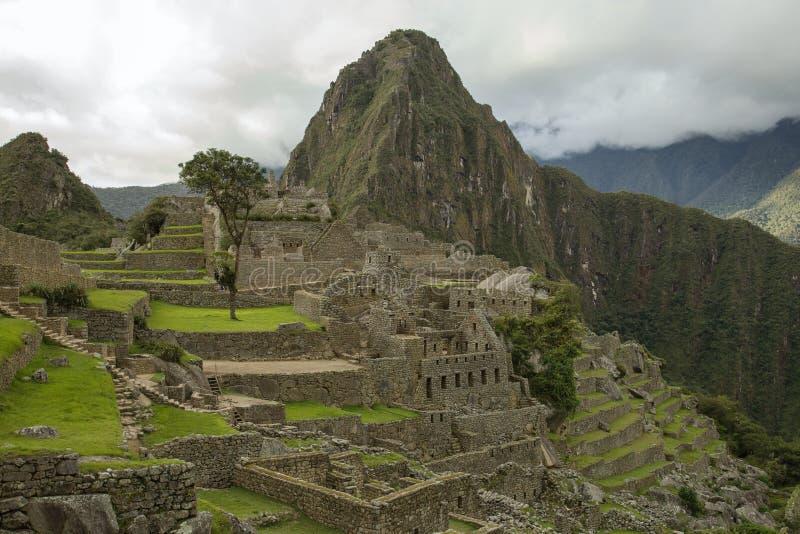 马丘比丘看法在秘鲁 库存照片