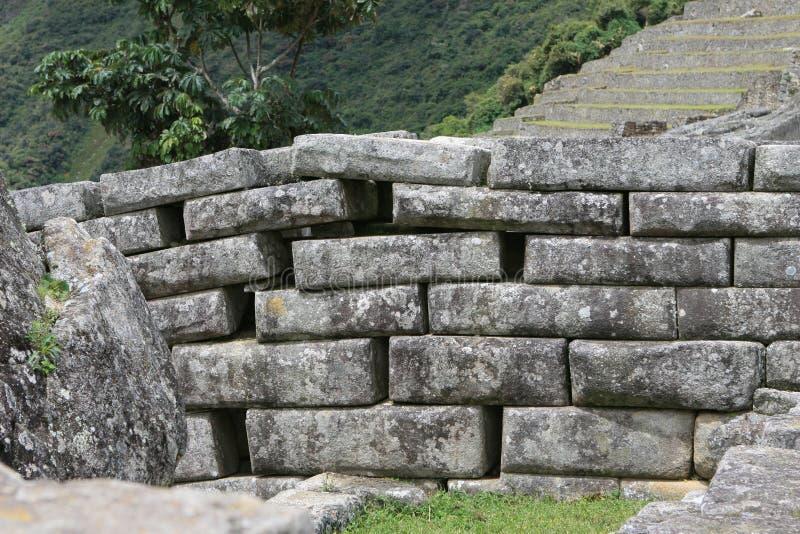 马丘比丘石制品 库存图片