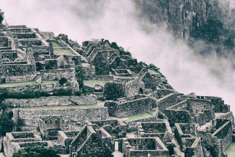 马丘比丘石头失去的城市 秘鲁 3d美国美好的尺寸形象例证南三非常 没有人民 免版税库存图片