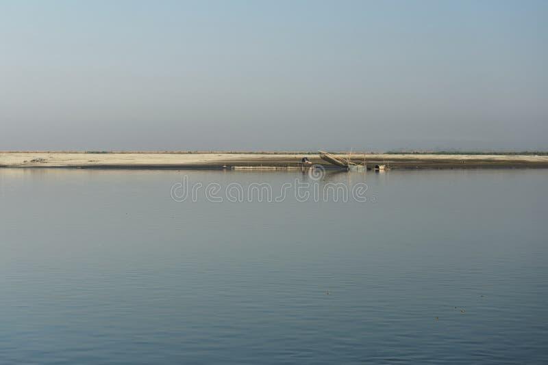 马久利岛,阿萨姆邦-印度 免版税库存图片