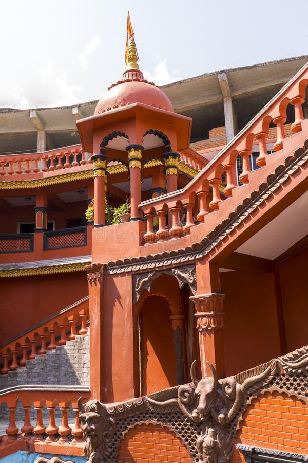 马亨德拉洞入口大厦博克拉尼泊尔 库存照片