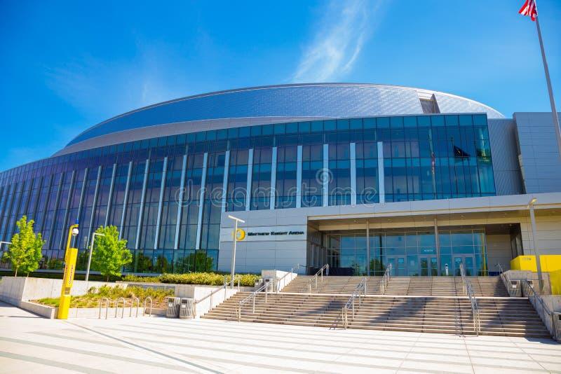 马修骑士俄勒冈大学的篮球竞技场 图库摄影