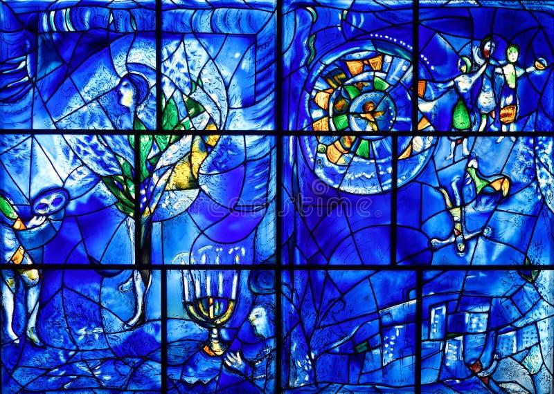 马克・夏卡尔彩色玻璃,艺术芝加哥学院  免版税库存图片