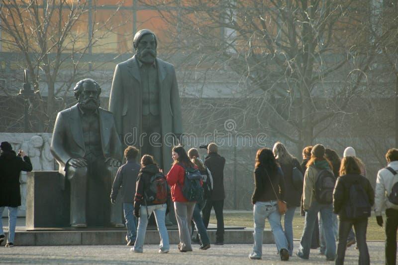 马克思恩格斯纪念品柏林 免版税库存照片