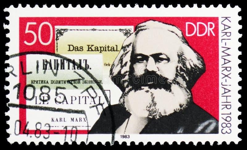 马克思,资本,哲学家卡尔・马克思serie的100th死亡周年,大约1983年 库存图片