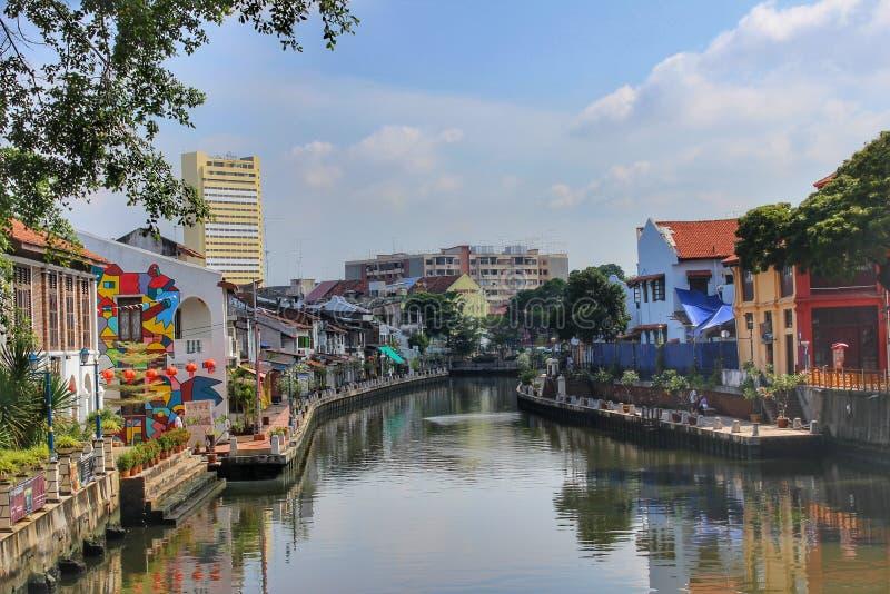 马六甲河,马来西亚 库存照片