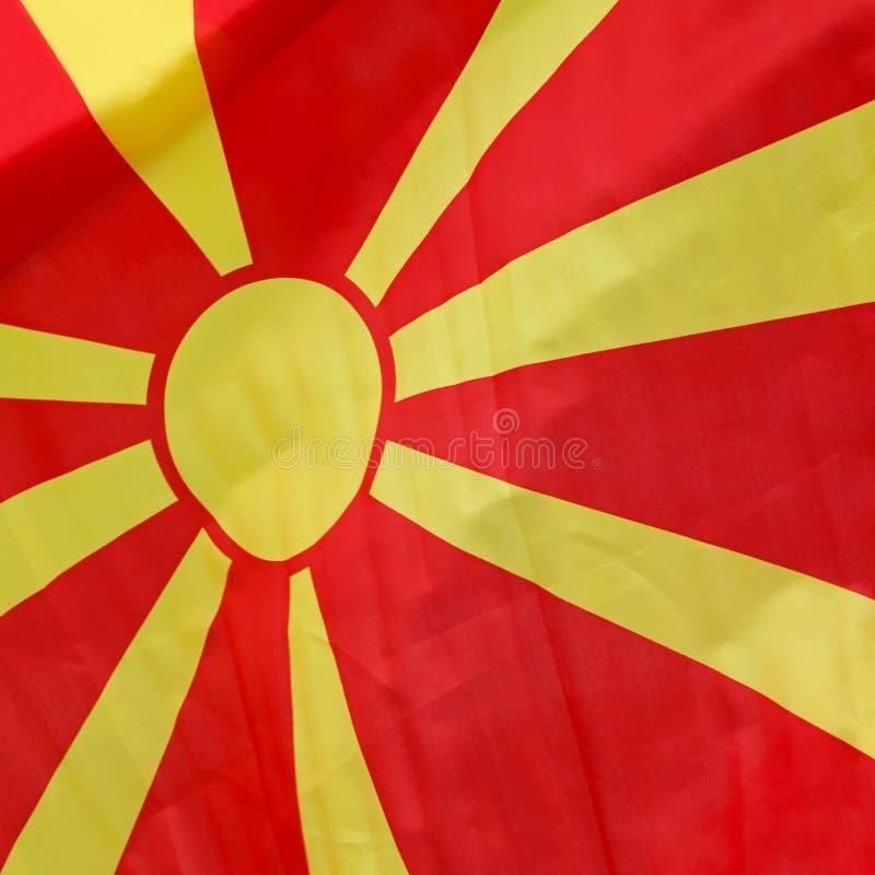 马其顿旗子 免版税库存照片
