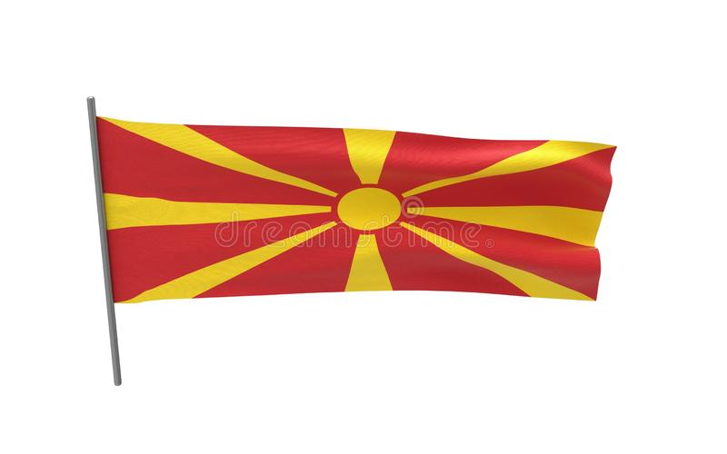 马其顿的旗子 皇族释放例证