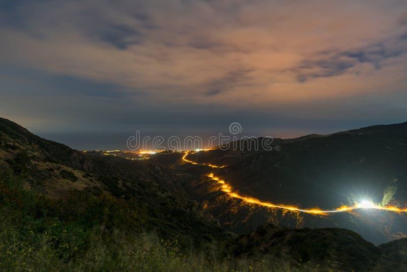 马利布峡谷俯视 库存照片
