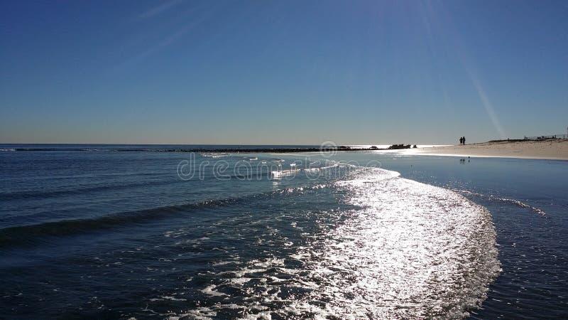 马利布海浪车手海滩 免版税图库摄影