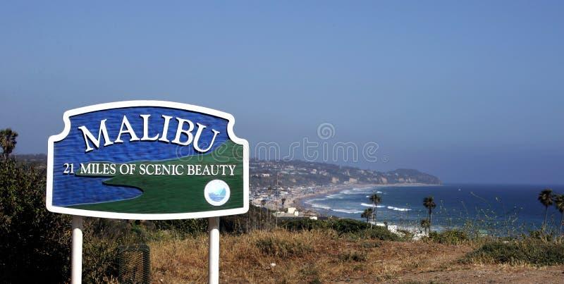 马利布,太平洋海岸Hightway,加利福尼亚 免版税库存图片