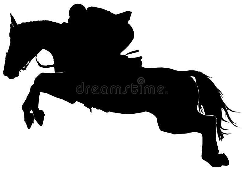马剪影 图库摄影