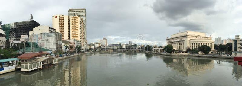 马卡蒂市全景视图在马尼拉,菲律宾 库存图片