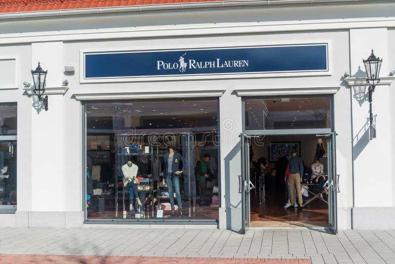 马可波罗拉尔夫劳伦商店在Parndorf,奥地利 免版税库存照片