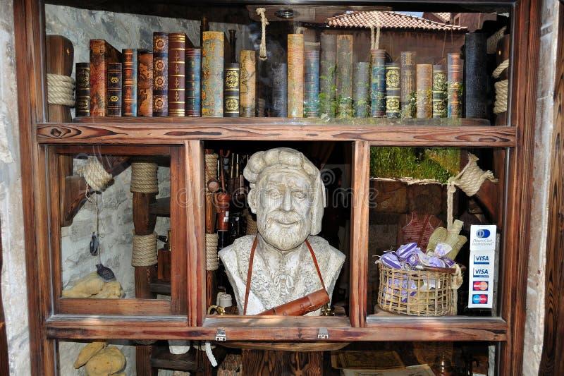 马可・波罗商店在Korcula,克罗地亚 图库摄影