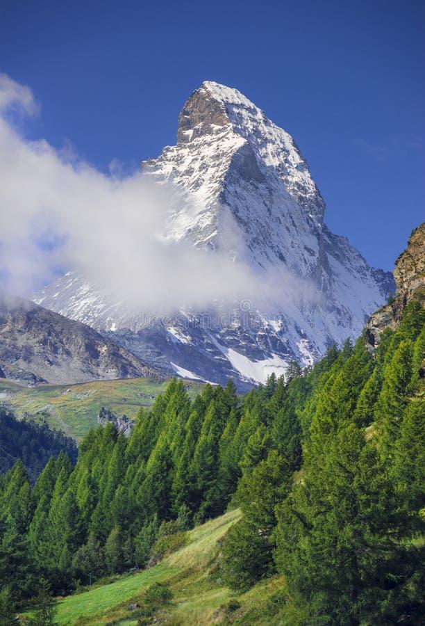 马塔角峰顶 瑞士 库存照片