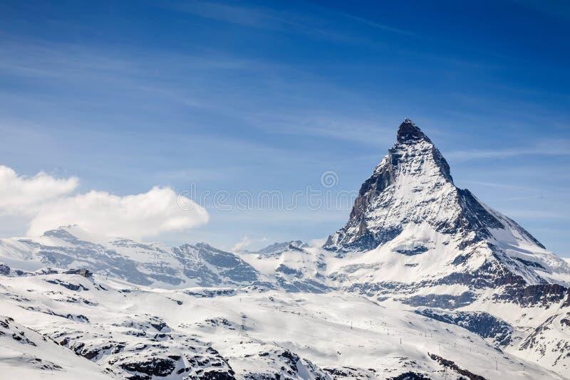 马塔角瑞士zermatt 免版税库存照片