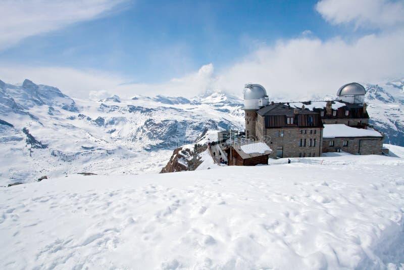 马塔角高峰瑞士zermatt 库存照片