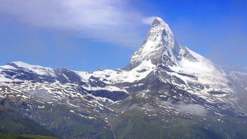 马塔角,瑞士全景  库存图片