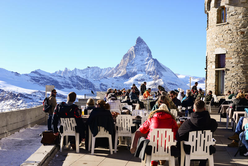 马塔角,瑞士- 12月12 :Ma旅游采取的看法  免版税库存照片