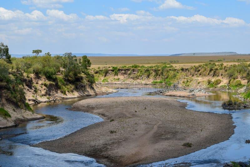 马塞语的玛拉,肯尼亚玛拉河 免版税库存图片