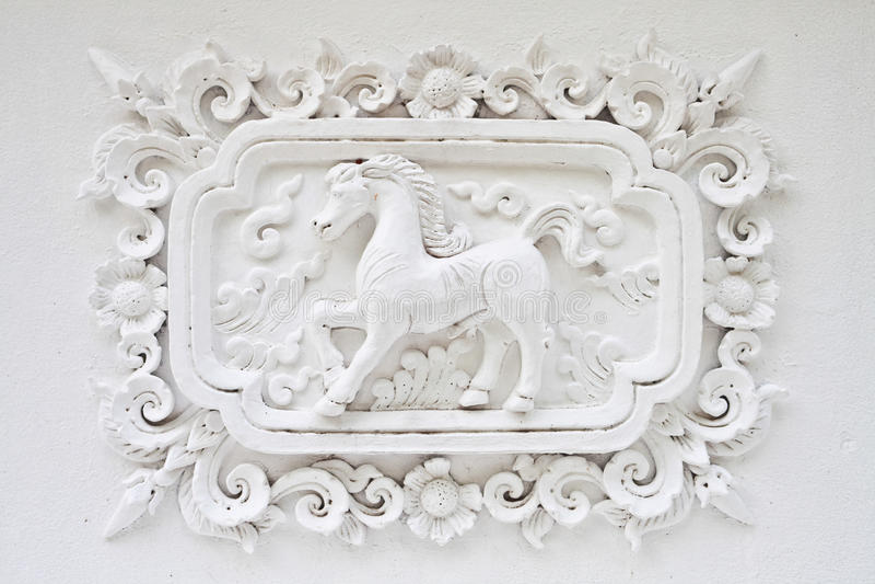 马墙壁白色 免版税库存图片