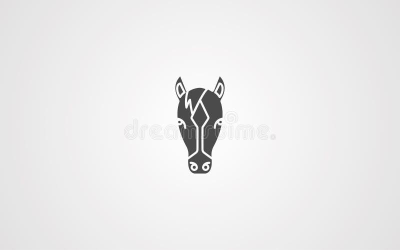 马头传染媒介象标志标志 皇族释放例证
